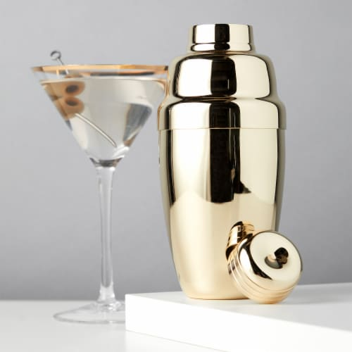 Gold Heavyweight Cocktail Shaker by Viski® Perspective: back