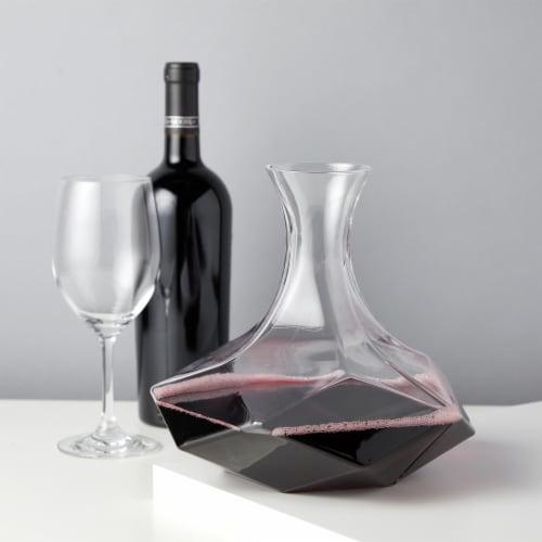 Faceted Crystal Wine Decanter by Viski® Perspective: back