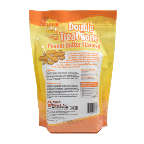 Ultra Chewy Peanut Butter Flavored Double Treat Bone Perspective: back