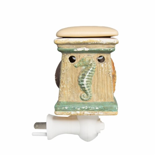 Scentsationals Home Fragrance Coastal By the Sea Plug-in Accent Wax Warmer with Light Bulb Perspective: back