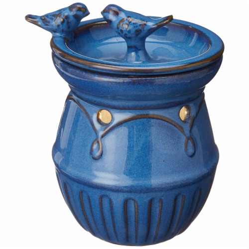 Common Scents Scentsationals Scented Blue Birds Full Size Ceramic Wax Warmer - Blue Perspective: back