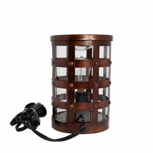 Scentsationals Home Fragrance Colosseum Edison Full-Size Wax Warmer with 40 Watt Light Bulb Perspective: back