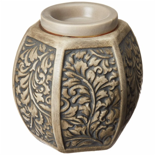 Common Scents Carved Laurel Full Size Wax Warmer Perspective: back