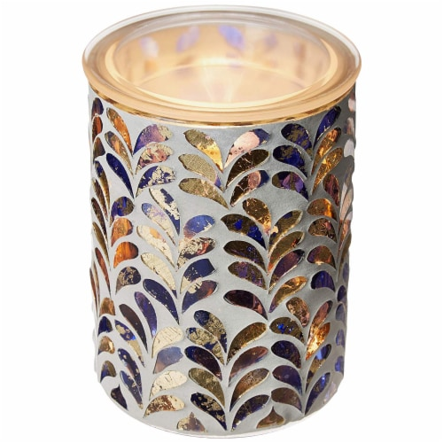 Scentsationals Home Indoor Decorative MOSAIC Royal Plume Full Size Wax Warmer, 31x31x7.5CM Perspective: back