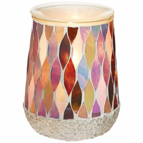 Scentsationals Home Indoor Decorative MOSAIC Pearl Full Size Wax Warmer Perspective: back