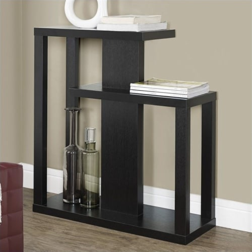 Monarch 32  Console Accent Table in Cappuccino Perspective: back