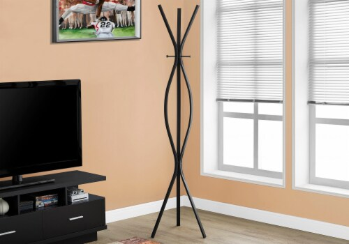 Coat Rack - 72 H / Black Metal Contemporary Style Perspective: back