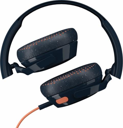 Skullcandy Riff Wired Headphones - Blue/Orange Perspective: back