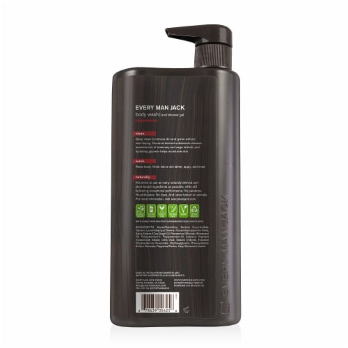 Every Man Jack Cedarwood Body Wash & Shower Gel Perspective: back