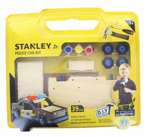 Stanley Jr. Police Car Large DIY Wood Building Kit Perspective: back