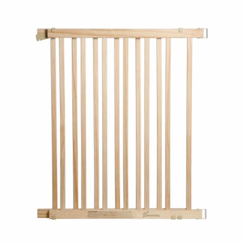Dreambaby Nelson Swing Gro-Gate Expandable Wooden Baby Pet Safety Gate, Natural Perspective: back