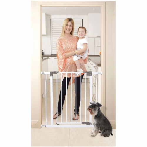 Dreambaby L854 Liberty 29.5 to 33 Inch Baby and Pet Stay Open Safety Gate, White Perspective: back