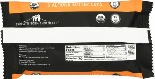 Brooklyn Born Chocolate Dark Chocolate Almond Butter Cups Perspective: back