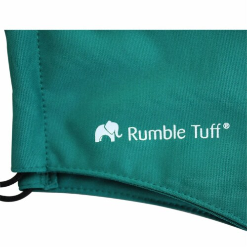 Rumble Tuff Medical Graded Fabric 3 Layers Reusable Facemask Perspective: back