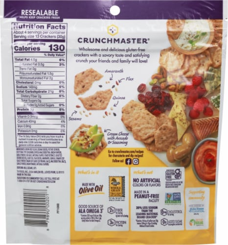 Crunchmaster Multi-Seed Ulimate Everything Baked Crackers Perspective: back