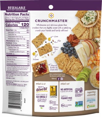 Crunchmaster® Sea Salt Multi-Grain Crackers Perspective: back
