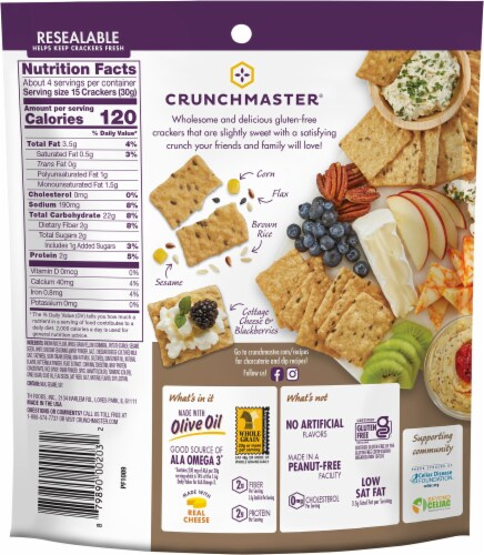 Crunchmaster Multi-Grain Aged White Cheddar Crackers Perspective: back