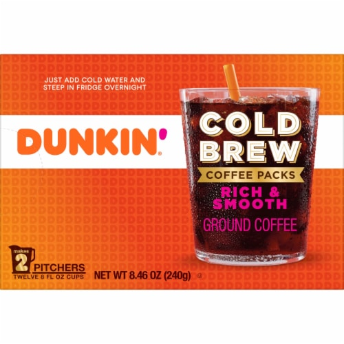 Dunkin' Donuts Cold Brew Coffee Packs Perspective: back