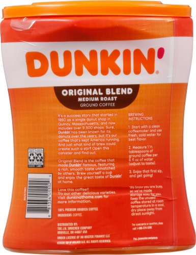 Dunkin' Donuts Original Blend Medium Roast Ground Coffee Perspective: back