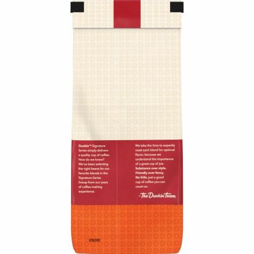 Dunkin' Signature Series Balanced Blend Medium Roast Ground Coffee Perspective: back
