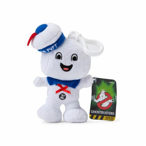 "Ghostbusters Stay Puft Marshmallow Man Happy Face 4"" Talking Mini Plush Perspective: back"