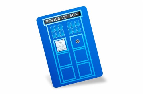Doctor Who TARDIS Cutting Board Perspective: back