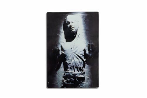 Star Wars Han Solo Frozen in Carbonite Glass Cutting Board Perspective: back