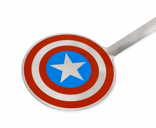 Marvel Captain America Shield Colored Flat Stainless Steel Wide Head Spatula Perspective: back