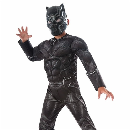 Captain America Civil War Black Panther size S 4/6 Deluxe Costume Rubie's Perspective: back
