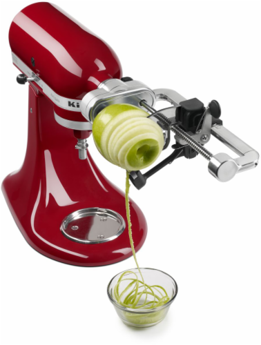 KitchenAid Spiralizer with Peel Core and Slice Attachments - Silver Perspective: back