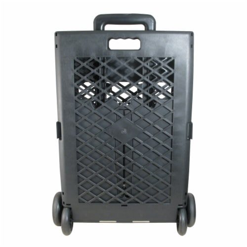 Olympia Tools Mesh Wheeled Cart - Black Perspective: back
