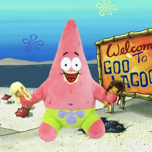 SpongeBob SquarePants Patrick with Ice Cream Hug Me 16  Plush Starfish Star NECA Perspective: back
