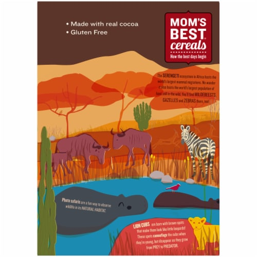 Mom's Best® Safari Cocoa Crunch Cereal Perspective: back