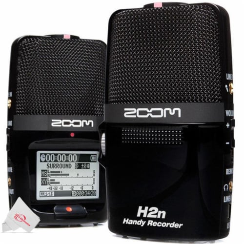 Zoom H2n Ext 2-input / 4 Track Handy Digital Audio Stereo Recorder With 5 Built-in Mic Array Perspective: back