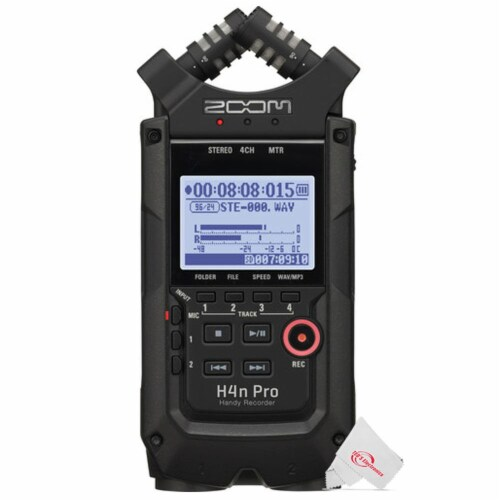 Zoom H4n Pro 4-input / 4-track Digital Portable Audio Handy Recorder Perspective: back