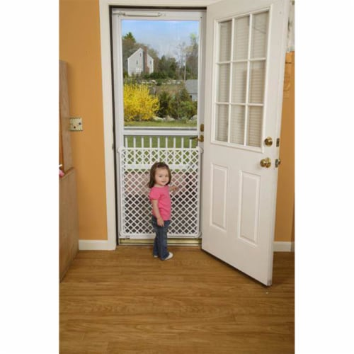 Safety 1st Screen Door Saver Baby/Kid/Pet Security Gate Perspective: back