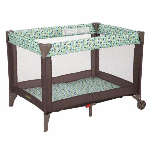 Cosco Funsport Portable Compact Baby Toddler Play Yard w/Wheels, Elephant Square Perspective: back