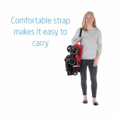 Maxi-Cosi Lara Travel Easy Fold Lightweight Canopy Baby Stroller, Nomad Red Perspective: back