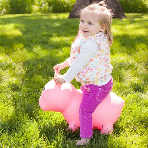 Farm Hoppers Inflatable Bouncing Pink Pig Perspective: back