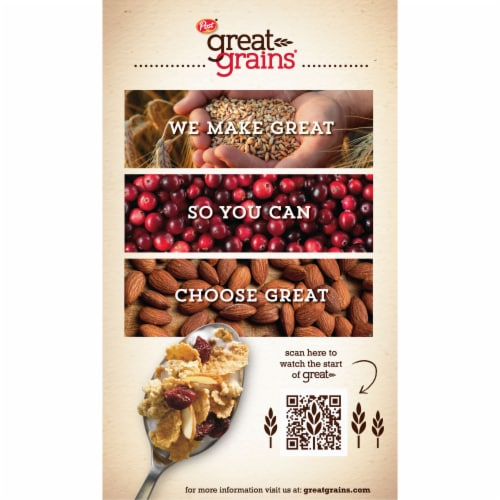 Post Great Grains Cranberry Almond Crunch Cereal Perspective: back