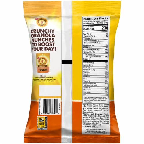 Honey Bunches of Oats® Honey Roasted Granola Perspective: back