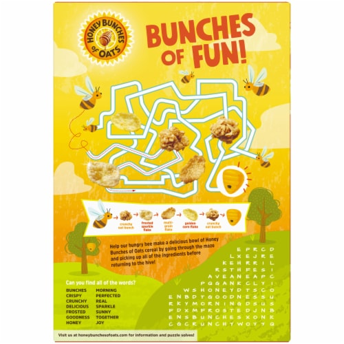 Honey Bunches of Oats Honey Roasted Cereal Perspective: back