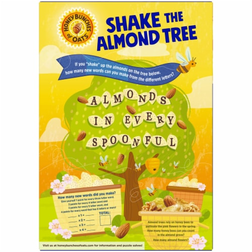 Honey Bunches of Oats® with Almonds Cereal Perspective: back