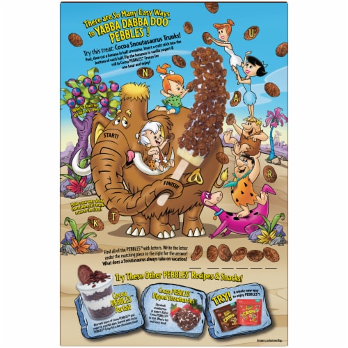 Post® Cocoa Pebbles™ Chocolate Flavored Rice Cereal Perspective: back