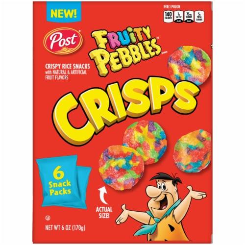 Post Fruity Pebbles Crisps Baked Bite-Sized Snacks Perspective: back