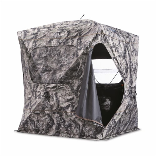 Guide Gear GGFGB-MOETC Field General Ground Hunting Blind, Mossy Oak Camouflage Perspective: back