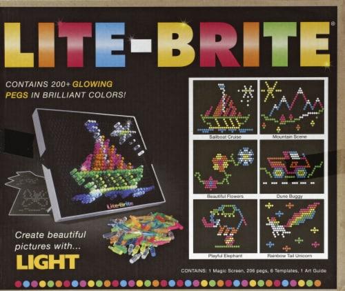 Lite Brite Magic Screen Light Toy Perspective: back