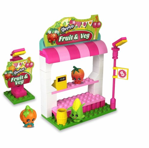 Shopkins Kinstructions Fruit & Veggie Stand (101 Pieces) Perspective: back