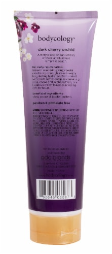 Bodycology Dark Cherry Orchid Body Cream Perspective: back