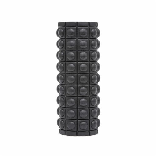 Adidas ADAC-11505BK Round Textured Foam Fitness Muscle Massage Roller, Black Perspective: back